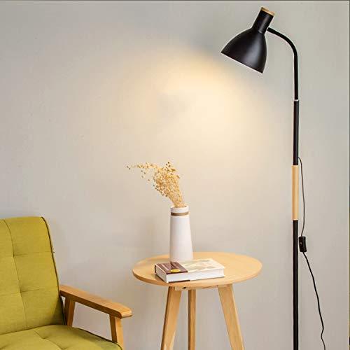ÉCLAIRAGES DE PLANCHER ZXC YWXLight LED lampadaire simple lampadaire vertical (Couleur : Black-Cold White)