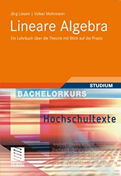 Lineare Algebra: Ein Lehrbuch über die Theorie mit Blick auf die Praxis (Bachelorkurs Mathematik) von [Liesen, Jörg, Mehrmann, Volker]
