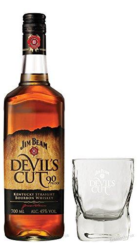 Set vom Schnapsbaron Jim Beam Devil's Cut 45% 0,7 Liter incl. original Tumbler