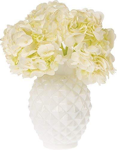 Luna Bazaar Vintage Mercury Glasvase (15,2 cm, Willa gerüschte Ananas-Design) - Dekorative Blumenvase - für Heimdekoration und Hochzeits-Dekoration 6-Inch Willa Ruffled Pineapple Design Ruffled Glas