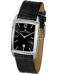 Jacques Lemans Unisex-Armbanduhr Bienne Analog Quarz Leder 1-1904A
