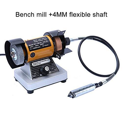 Mehrzweck Poliermaschine, Schleifbock mit flexibler Welle, Tischdrehwerkzeug Poliermotor Für Werkzeuge aus Metall, Glas und Stein