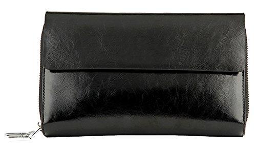 saierlong-mens-black-cow-leather-wallet-wristlet-purse