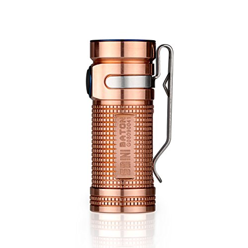 Olight® S mini Baton CU Taschenlampe Cree XM-L2 CW LED max. 550 Lumen mit 16340 CR123A 1600mAh Batterie - Rohkupfer (Globale Limited Sonderedition)