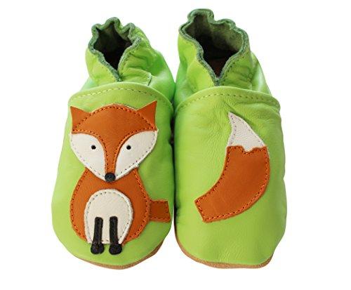 Engel und Piraten Krabbelschuhe Fuchs grün