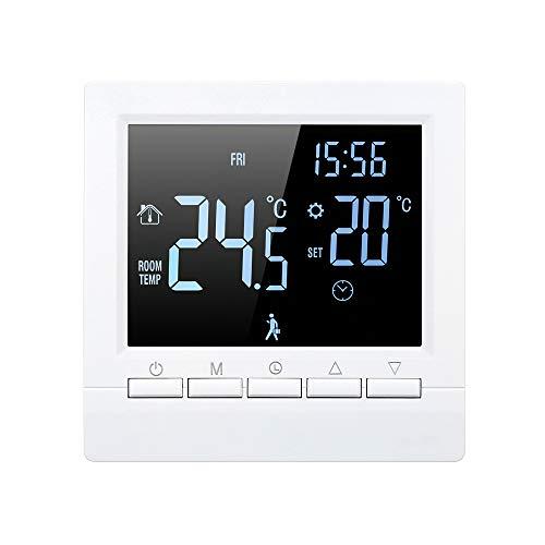 Decdeal Termostato Intelligente Wi-Fi - Termoregolatore Digitale Programmabile per Riscaldamento Elettrico,Controllo App, GB,16A