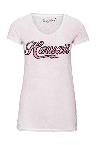 Frogbox Damen Shirt Motiv T-Shirt HAWAII, Farbe: Grau Rosa