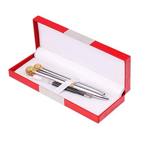 MagiDeal 2 Stück Kugelschreiber Tintenroller Rollerball Unterschrift Stift und 1 Stück Ersatzmine,...