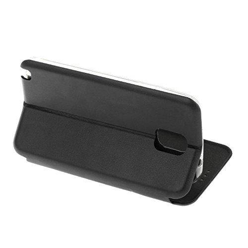 YHUISEN Solid Color Premium-PU-Leder und weicher TPU Gummischutz Mappen-Entwurfs-Flip Folio Case Schutzhülle mit Karten-Slot / Standplatz für Samsung Galaxy Note 3 ( Color : Rose Gold ) Black