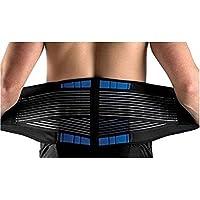 """SUAVER Neopreno Deluxe Doble Halar Lumbar inferior de la espalda apoyo de la ayuda Cinturón de ejercicio Alivio del dolor (Negro, XX-Large""""40-44"""")"""