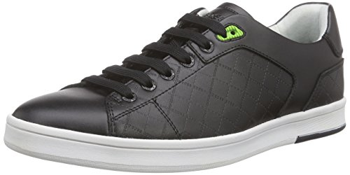 Boss Green Ray Check 10189907 01, Baskets Basses Homme Noir (black 001)