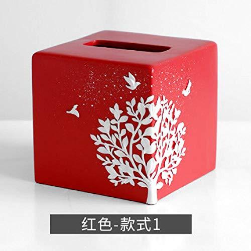 WEIUTY Handtuchhalter Regal Stabiles Metall für den Rahmen Europäischen Stil Wohnzimmer Tischplatte Couchtisch Taschentuch Box kreative süße Serviettenschale Tablett - A6 A6-tablett