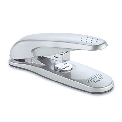 Rapesco 0745 Zero-02 Halbstreifen Bürohefter mit Verlängertem Griff (Typ 24 & 26/6mm Heftklammern, etwa 20 Blatt) Metall Silber