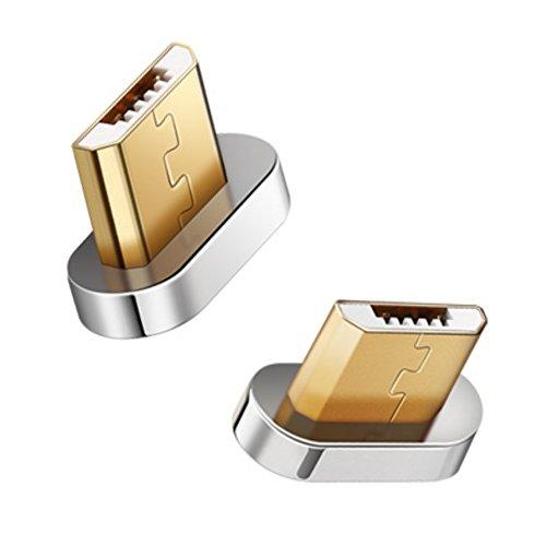 Magnetischer Micro USB Adapter [1 Stück] VIDARE Magnet Zusatzadapter für Android Smartphones, Samsung Galaxy, HTC, Motorola, Honor, Huawei, Sony, LG, Google, PS4, Kindle und weitere - (ohne - Sprint Samsung S5
