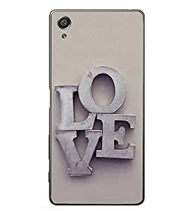 PrintVisa Love Forever Lover High Glossy Metal Designer Back Case Cover for Sony Xperia XA :: Sony Xperia XA Dual