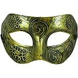 TRIXES Máscara dorada Mascarada Veneciana Disfraces Carnaval Fiesta