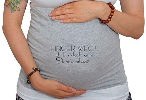 Bauchband für Schwangere mit Spruch Finger weg!! Ich bin doch kein Streichelzoo
