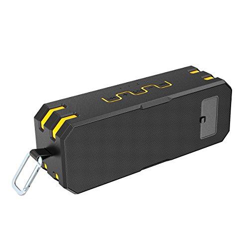 Bluetooth Lautsprecher, Wirezoll Wasserdicht 12W Speaker mit 5200mAh Batterie, Schwarz & Rot ( Bass Verstärker , IP65 Wasserfest , Staubdicht , Stoßfest , Freisprecheinrichtung ,TF Karte Unterstützt ) Schwarz & Gelb - 4