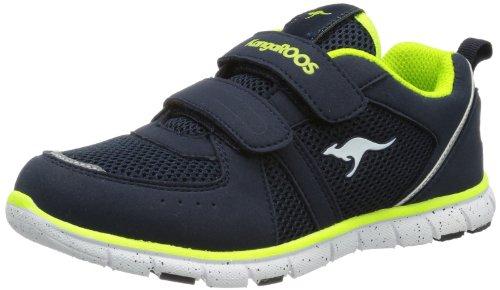 KangaROOS Nara, Sneaker unisex bambino, Blau (dk navy/lime 481), 37