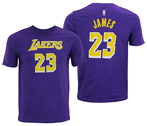 Outerstuff Lebron James Los Angeles Lakers # 23 Violett Youth Name und Nummer Jersey T-Shirt, Jungen, Violett, X-Large 18/20 US -