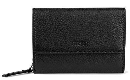 BREE Liv 108 | klassisch & hochwertig | echt Leder Geldbörse mit Münzfach, Kartenfach & Scheinfächer | black (Leder Aus Leder Klassische Geldbörse)