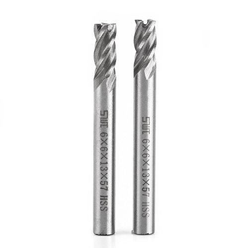 2 stücke 4 Flöten Schaftfräser HSS 6mm Metall Fräser Gravur Fräsmaschine Bit Fräser CNC Fräswerkzeug