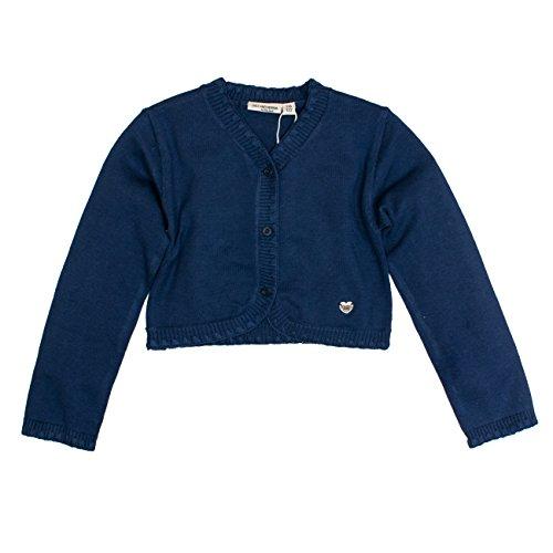 SALT AND PEPPER Mädchen Jacke Jacket Dresses Strick Bolero, Blau (Navy 460), 128 (Herstellergröße: 128/134) (Ausschnitt Herzförmiger Jacke)
