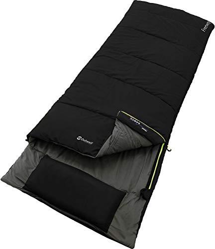 Schlafsack für Camping und Outdoor – 3-Jahreszeiten Deckenschlafsack von OUTWELL | Ideal für Frühling, Sommer und Herbst | Extra groß mit viel Platz für Kinder und Erwachsene | Warm & Bequem
