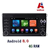 Wekuo DVD-Player für Porsche Cayenne 2003–2009 2010, 4 GB RAM Anroid 8.0 mit Canbus WiFi GPS Navigation Radio FM Karte