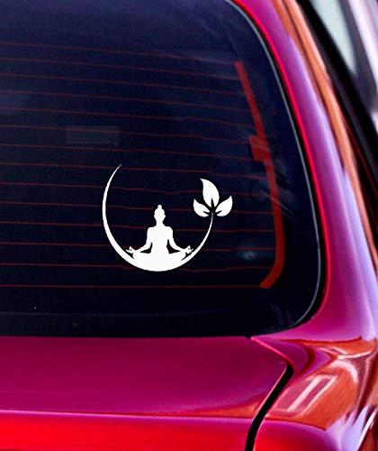 Design Aufkleber Auto 11,8x9,8 cm Mode Yoga Fitness Dekor Auto Aufkleber für Auto Laptop Fenster Aufkleber