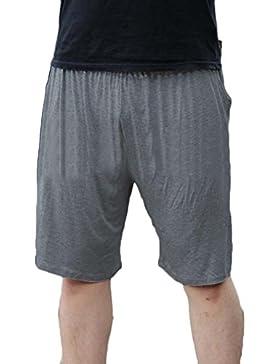 GladiolusA Pantalones Cortos Shorts Elástico Noche De Pijama para Hombre Pantalones De Estar por Casa Talla Grande