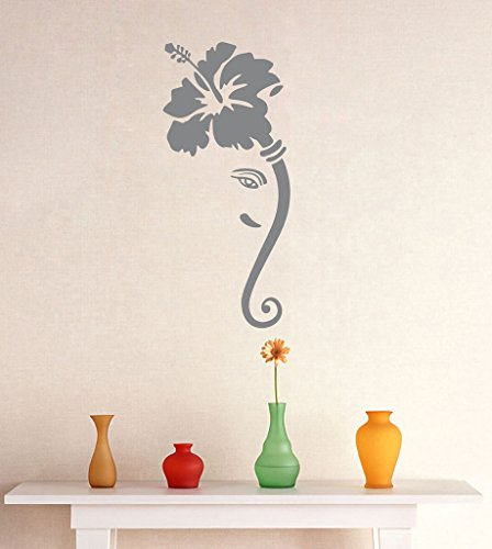 DECOR Kafe Home Decor Ganesha Flower Wall Sticker, Wall sticker for bedroom, Wall Art, Wall poster (PVC vinyl, 45 X 101 CM)  available at amazon for Rs.409