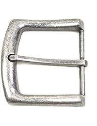 Gürtelschnalle Vintage antik Buckle 40 mm Metall Dornschließe für Gürtel mit 4 cm Breite M 1