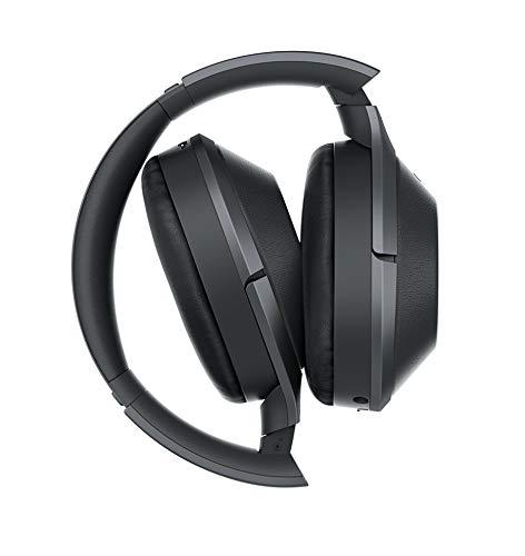 Sony MDR-1000X kabelloser High-Resolution Kopfhörer (Noise Cancelling, Sense Engine, NFC, Bluetooth, bis zu 20 Stunden Akkulaufzeit) schwarz - 5