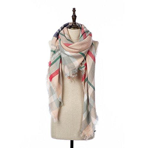 natural-feelings-elegante-inverno-caldo-grande-coperta-a-scacchi-plaid-sciarpa-wrap-scialle