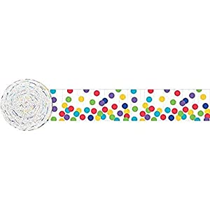 Amscan International - 18000 4.4 cm X 24 m arco iris lunares Crepe Streamer