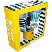 Bialetti Set de 2tazas, aluminio, aluminio, amarillo, 22 x 8 x 21,5 cm