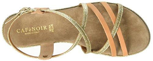 CAFèNOIR  Mxl152, sandales femme gold/leder
