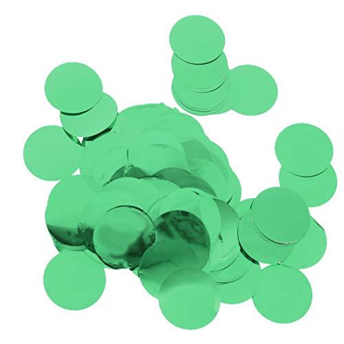 Perfeclan 30g Bunte Konfetti Streudeko Streuartikel mit Rund Form, aus Plastik - Grün