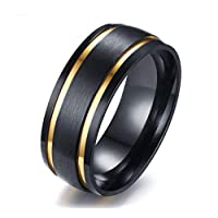 Men's Ring with two golden belts size 9