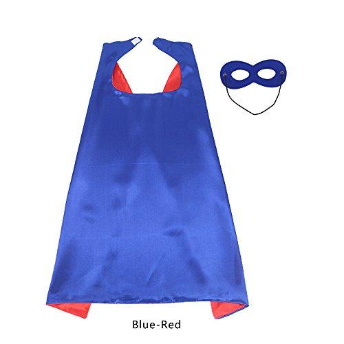 70 cm X 70 cm Kinder Superhero Kostüme beidseitig Satin Umhang und Maske für Mädchen Fancy Dress Up jede Party gefallen
