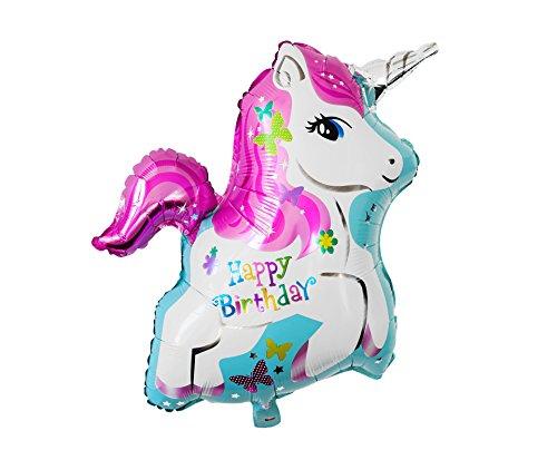 Folienballon Einhorn Unicorn Luftballon Party Heliumballon Kindergeburtstag Geburtstag Dekoration