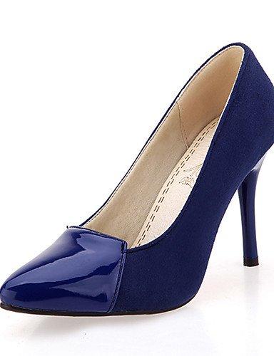 WSS 2016 Chaussures Femme-Habillé / Soirée & Evénement-Noir / Bleu / Rouge-Talon Aiguille-Bout Pointu-Talons-Similicuir black-us9.5-10 / eu41 / uk7.5-8 / cn42