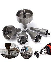 Tradico® 5Pcs 20Mm-50Mm Hole Saw Carbide Tip TCT Steel Drill Bits Set