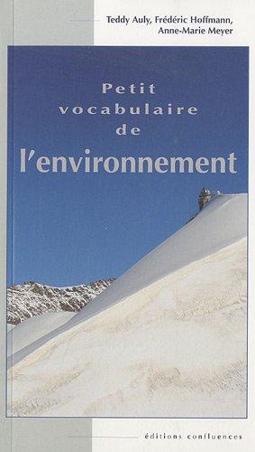 Petit vocabulaire de l'environnement
