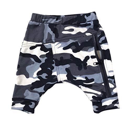 i-uend Baby Jungen Hosen, Kleinkind Baby Camouflage Print Hosen Kid Boy Harem Hosen Pumphose Reißverschluss Hohe Taille Kleidung