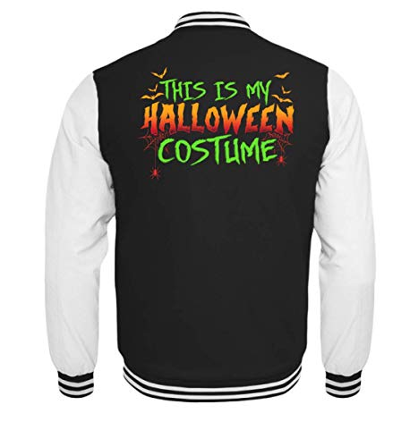 Das Ist Mein Halloween Kostüm Costume Lustiges Boo Gruseliges Spinnen Fledermaus T-Shirt - Kinder College Sweatjacke