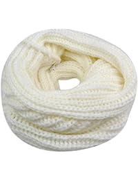 WMA WhiteWarm Ladies Winter knitted Circle Crochet Snood Neck Loop Scarf Shawl
