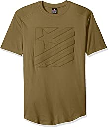 59c0c9823c2c57 Southpole Men s Short Sleeve Scallop Tee with Moto Biker Details in Stars  and Stripes