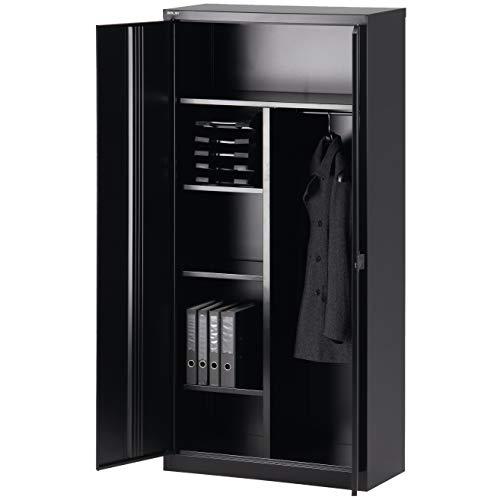 Bisley Garderobenschrank abschließbar in schwarz Metallschrank Stahlschrank Werkzeugschrank...